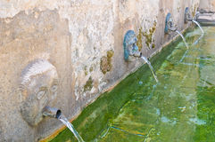 Medieval fountain. Laterza. Puglia. Italy. Stock Images