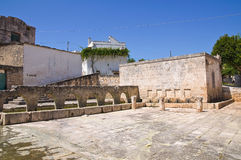 Medieval fountain. Laterza. Puglia. Italy. Royalty Free Stock Photo
