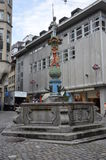 A medieval fountain in Lucerne, Switzerland Stock Images
