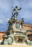 Medieval fountain at Piazza Maggiore Royalty Free Stock Images