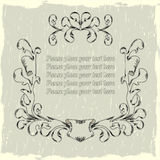 Medieval frame. Background with a medieval frame Royalty Free Stock Photos