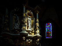 Medieval franch church detailed view Royalty Free Stock Photo