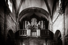 Medieval franch church detailed view Royalty Free Stock Photos