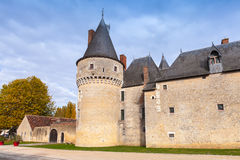 Medieval french castle in Loire Valley Stock Photos