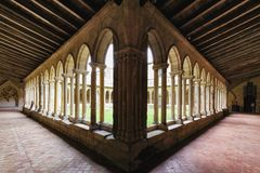 Medieval French Cloisters Stock Photo