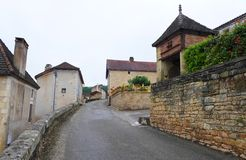 Medieval french town with pigeonnier Stock Image