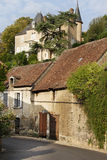 Medieval French Village street Stock Image