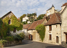 Medieval French Village Street Stock Images