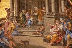 Medieval fresco Stock Image