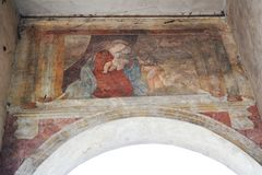 Medieval fresco a Treviso Royalty Free Stock Images