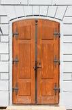 Medieval front door in Prague royalty free stock image