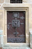 Medieval front door in Prague royalty free stock images
