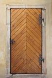 Medieval front door in Prague Stock Image