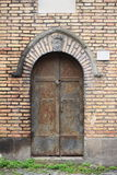Medieval front door in Rome Royalty Free Stock Image