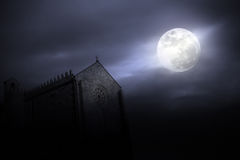 Medieval full moon Stock Images