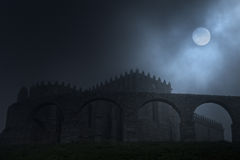 Medieval full moon Royalty Free Stock Photography