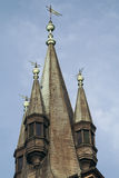 Medieval gabled roof of tower Royalty Free Stock Image