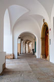 Medieval gallery entrance, Hradec Kralove, Czech Republic Stock Photos