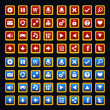 Medieval game buttons pack Royalty Free Stock Image