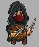 Medieval game character assassin Royalty Free Stock Image