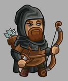 Medieval game character ranger Royalty Free Stock Images