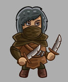 Medieval game character rogue Stock Photo
