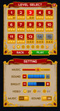 Medieval game GUI pack Stock Images