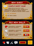 Medieval game GUI pack Royalty Free Stock Photography
