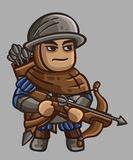 Medieval Game Sprites Characters Collection. Arbalester Stock Photos