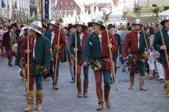 Medieval games the Landshut Wedding Stock Images