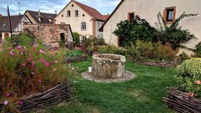 Medieval garden in France's Alsace region