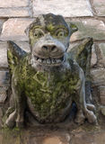 Medieval gargoyle with wings claws and teeth Royalty Free Stock Images