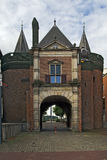 Medieval gate. A medieval gate, the Sabelspoort, into Arnhem, the Netherlands stock photos