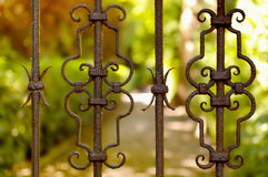 Medieval gate. Of private garden Stock Photography