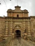 Medieval gate. Main gate of Mdina, former capital of Malta Stock Images