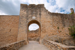 Medieval gate, Pals, Spain Royalty Free Stock Photo