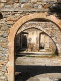 Medieval Gate - Spinalonga island, Greece Royalty Free Stock Photo