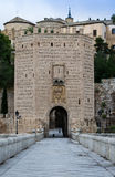 Medieval gate tower in Toledo, Spain Stock Photos