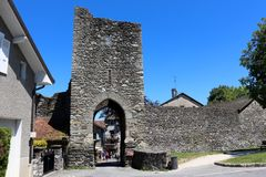The medieval gate of Yvoire, France Royalty Free Stock Images