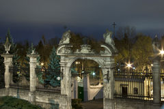 Medieval gates at night Royalty Free Stock Images