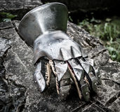 Medieval gauntlet Stock Photography