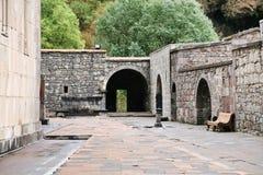 Medieval geghard monastery in Armenia stock image