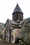 Medieval geghard monastery in Armenia Royalty Free Stock Photography