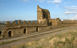 Medieval Genoese stronghold Stock Photos