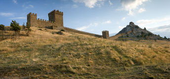 Medieval Genoese stronghold Royalty Free Stock Photos