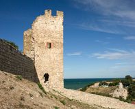 Medieval Genoese stronghold Royalty Free Stock Photo