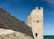 Medieval Genoese stronghold Stock Images