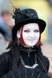 Medieval girl at Wave Gotik Treffen Royalty Free Stock Images