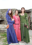 Medieval girls Stock Photo