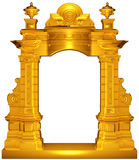 Medieval gold frame Royalty Free Stock Image